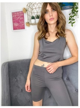 Outrageous Fortune Charcoal Lounge Crop Top