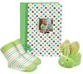 Stephan Baby Mini-Dot Photo Brag Book, Boo Bunnie and Bootie Socks Gift Set, Green by Stephan Baby