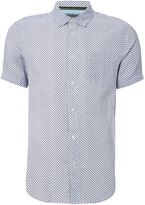 Linea Fitzrovia Printed Linen Short Sleeve Shirt