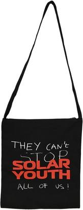 Raf Simons Slogan Print Crossbody Bag