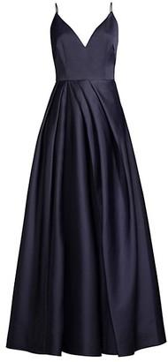 Flor Et. Al Beata V-Neck Pleated Gown