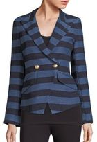 Smythe Striped Crossover Blazer