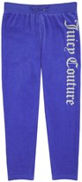 Juicy Couture Girls Logo Velour Scottie Dog Slim Pant