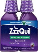 Vicks ZzzQuil Nighttime Sleep-Aid Liquid, Warming Berry, 24 oz, Twin Pack