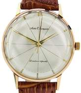Seiko Champion Diashock Gold Plated Stainless Steel & Leather Manual 36mm Mens Watch 1960s