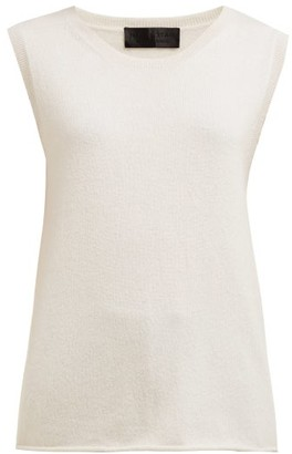 Nili Lotan Muscle Cashmere Tank Top - Ivory