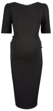 Dorothy Perkins Womens **Maternity Black Textured Bodycon Dress, Black
