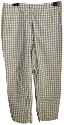 Philosophy di Alberta Ferretti White Cotton Trousers