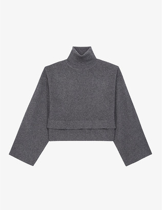 The Kooples Turtleneck wool and cashmere-blend jumper