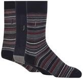 J By Jasper Conran Pack Of Three Navy Striped Socks