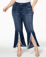 INC International Concepts I.N.C. Plus Size Tulip-Hem Jeans, Created for Macy's