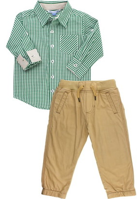 Ruggedbutts Gingham Shirt & Chinos Set
