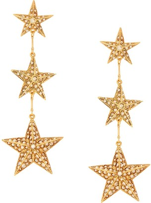 Oscar de la Renta Crystal-Embellished Star Drop Earrings
