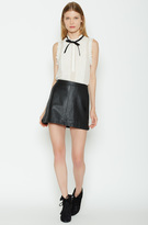 Joie Mayfair Leather Skirt