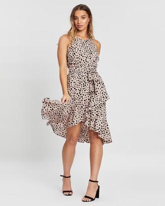 Atmos & Here Jana Ruffle Spot Dress