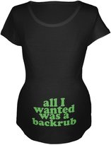 Old Glory All I Wanted Back Rub Funny Maternity Soft T-Shirt