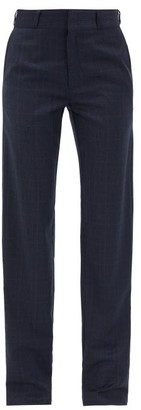 Vetements Checked Trousers - Womens - Navy