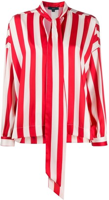 Jejia Striped-Print Long-Sleeved Blouse