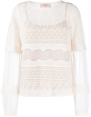 Twin-Set Sheer Knitted Top