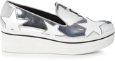 Stella McCartney Binx metallic flatform loafers