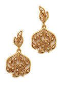 Oscar de la Renta Crystal Filigree P Earrings