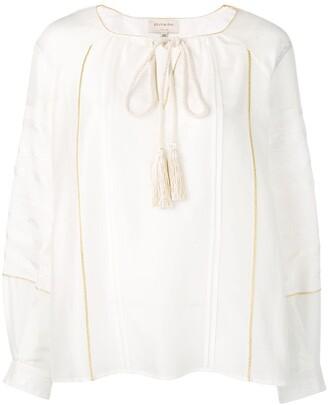 Zeus+Dione braided tie blouse