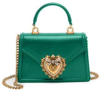 Dolce & Gabbana Devotion Leather Top Handle Bag