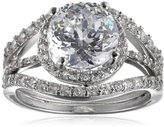 """Kenneth Jay Lane CZ by Classic"""" 6 Cttw Round Three Piece Set Bridal Ring, Size 7"""