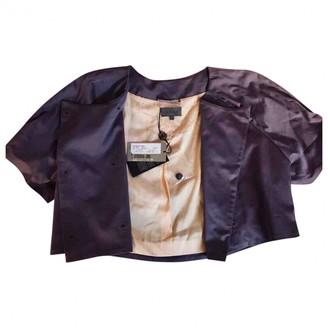 La Perla Purple Cotton Jacket for Women