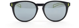 Christian Dior Homme Black Tie Round Sunglasses Acetate with Metal