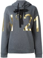 No.21 logo print hoodie