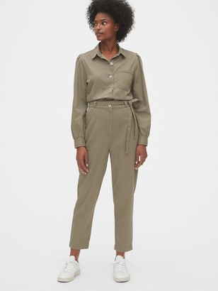 Gap Puff-Sleeve Utility Jumpsuit