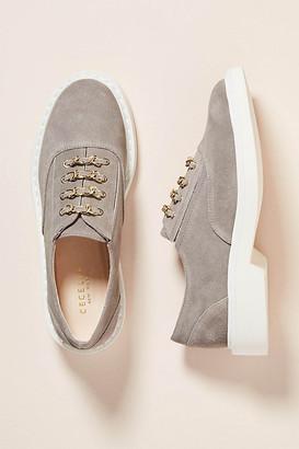 Cecelia New York Randi Platform Oxfords By in Grey Size 6
