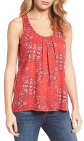 Lucky Brand Women's Print Cross Back Tank