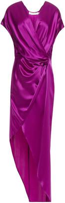 Mason by Michelle Mason Wrap-effect Draped Silk-charmeuse Maxi Dress
