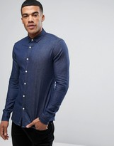Asos Skinny Denim Shirt In Rinse Wash