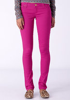 Delia's Britt Low-Rise Skinny Color Jean Berry Pink
