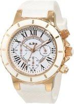 A Line a_line Women's 20102DV Marina Chronograph White Textured Dial White Silicone Watch