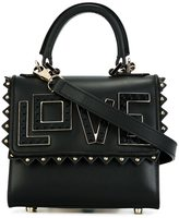 Les Petits Joueurs 'love' studded small tote