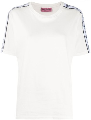 Chiara Ferragni eye lash trim T-shirt