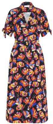 Rebecca Vallance Cintia Linen-Blend Shirtdress