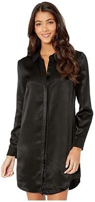 BCBGeneration City Shirtdress TLC6235701 (Black) Women's Dress