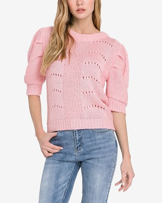 Express English Factory Puff Sleeve Detail Sweater