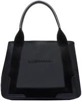 Balenciaga Leather Navy Cabas S