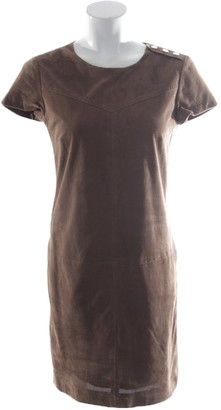 SET Brown Leather Dress for Women