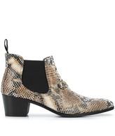Needles Chelsea python print boots