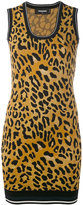 DSQUARED2 animal print mini dress - women - Polyester/Viscose - L