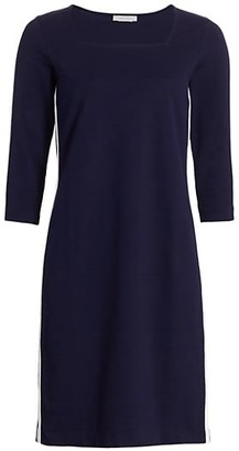 Joan Vass Petite Side Stripe Sheath Dress