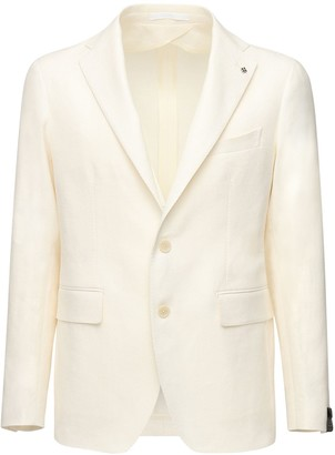 Tagliatore Linen Cotton Blend Jacket