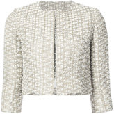 Oscar de la Renta cropped tweed jacket